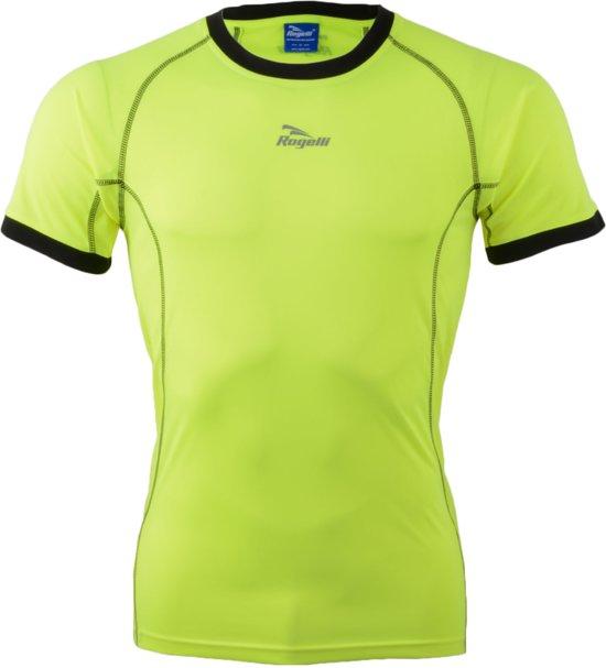 Rogelli Torrey T-shirt SS - Sportshirt - Mannen - Maat XXL - geel/zwart