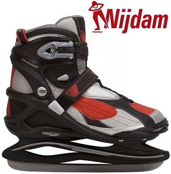Nijdam 3379 Pro Line IJshockeyschaats - Schaatsen - Mannen - Rood/Zwart - Maat 45