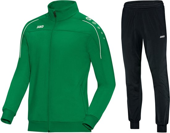 Jako Classico  Trainingspak - Maat L  - Mannen - groen/zwart