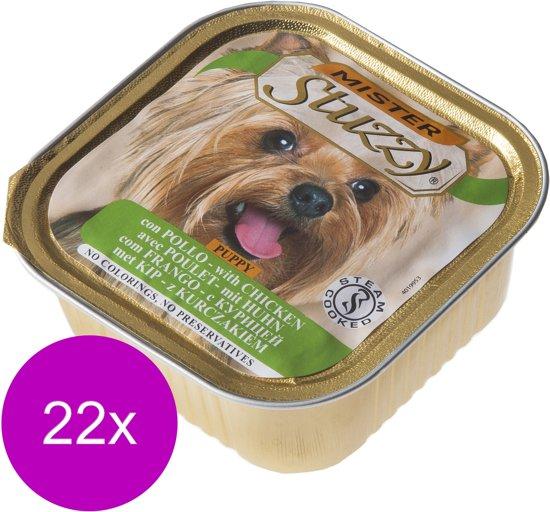 Mister Stuzzy Dog Paté Puppy - Hondenvoer - 22 x Kip 150 g
