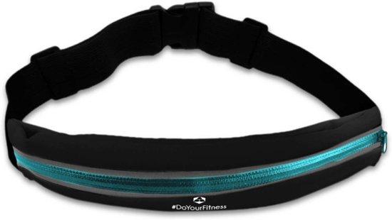 #DoYourFitness - Loopriem - »RunActive« - heuptas / ritszak voor hardlopen ,elastisch, waterdicht - mobiele telefoon tot ca. 5,5 inch - lichtblauw