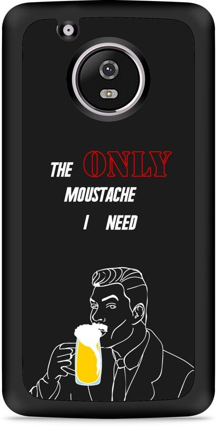 Moto G5 Plus Hardcase Hoesje Only Beer Moustache