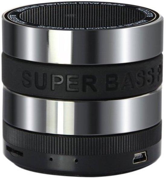 Super Bass Portable Bluetooth Speaker - Zwart