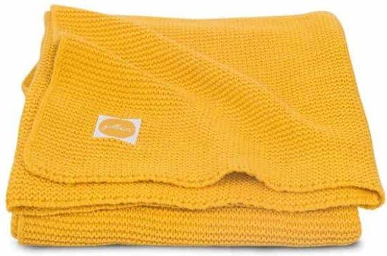 Deken 75x100cm Basic knit ocher