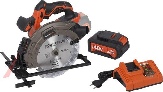 Powerplus Dual Power POWDPSET20 Cirkelzaag (40V) - starterspakket - (incl. 40V accu en oplader)