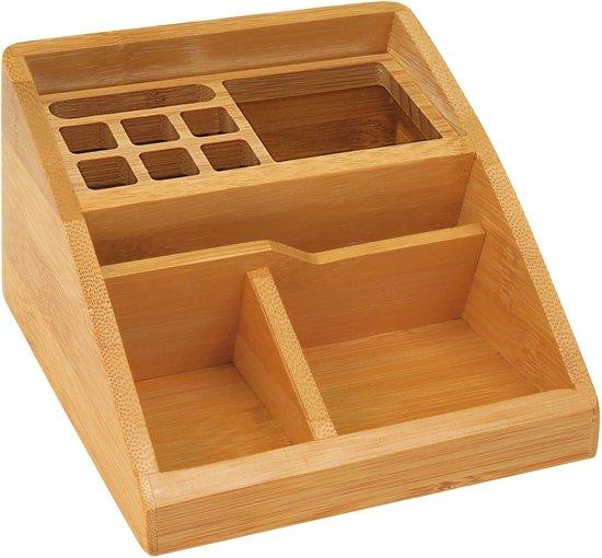 bamboe bureau organizer. Black Bedroom Furniture Sets. Home Design Ideas