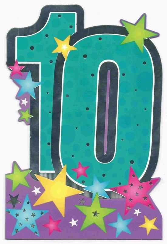 verjaardagskaart 10 jaar bol.  Verjaardagskaart 10 Jaar verjaardagskaart 10 jaar