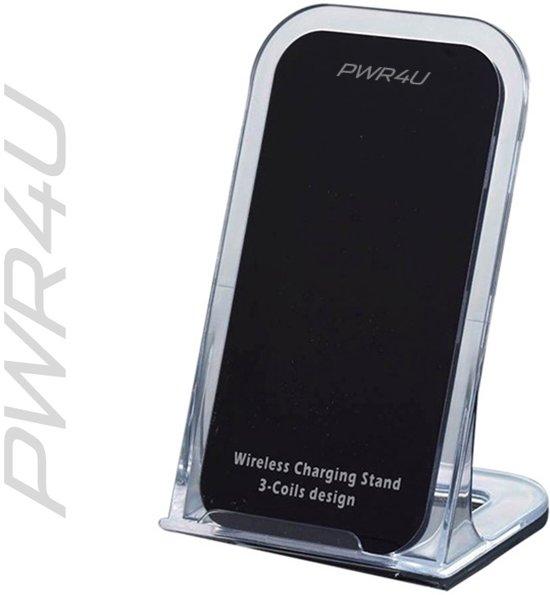 Draadloze lader - wireless charger - voor alle QI smartphones - zwart