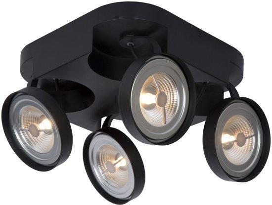 Lucide VERSUM AR111 - Plafondspot - LED Dimb. - AR111 - 4x10W 2700K - Zwart