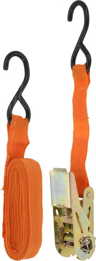 Fx Tools Spanband Met Ratel 25 Mm 4,5 Meter 500 Kg Oranje