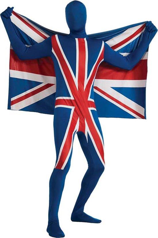 """""""Tweede huid kostuum met Engels vlag motieven  - Verkleedkleding - 164/176"""""""