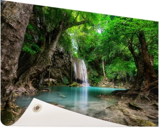 Waterval In Tuin : Bol.com erawan waterval in jungle thailand foto tuinposter 120x80