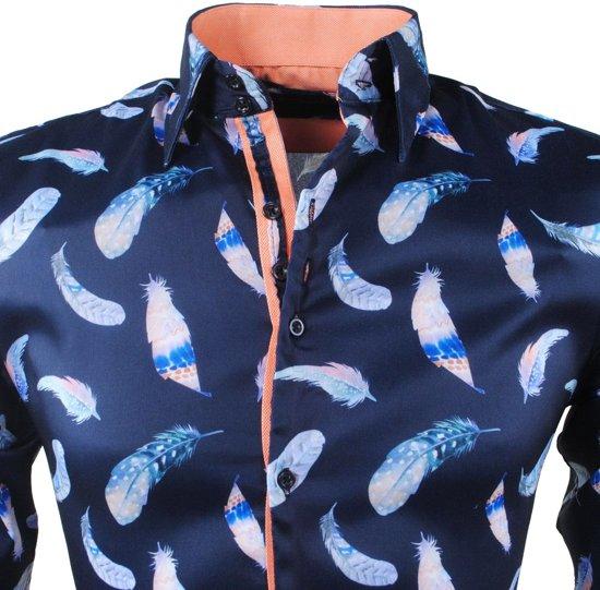 Veren Navy Navy MontazinniHeren Stretch Overhemd Veren Stretch MontazinniHeren Overhemd eE29bIWDHY