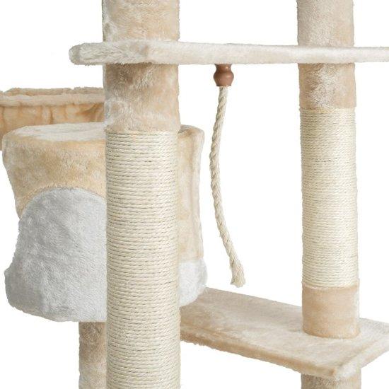 TecTake - Katten kitten krabpaal klimpaal Nelly 204cm beige - 402108