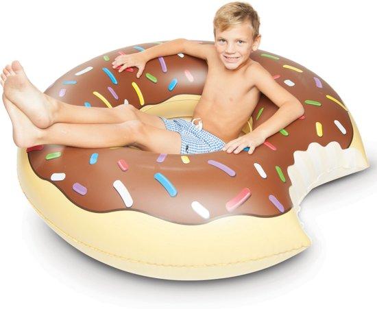 Opblaasbare Chocolade Donut Zwemband -XXL Opblaasband - Ø 1.20 - De originele versie!