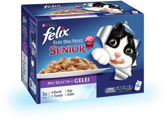 d19b572282c bol.com   FELIX Elke Dag Feest Senior - Kattenvoer - 12 x 100 gr