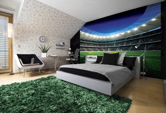 Behang Kinderkamer Voetbal : Bol fotobehang voetbal groen blauw cm