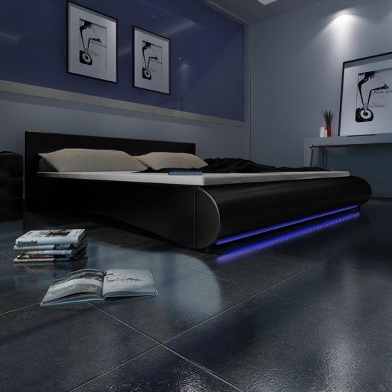 Bed Met Led Verlichting.Bol Com Vidaxl Imitatie Lederen Bed 180x200 Cm Met Led