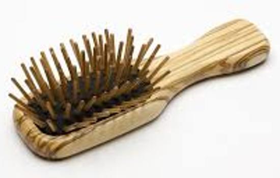 Haarborstel met houten pinnetjes - 11,5 cm