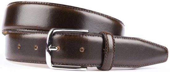 Stijlvolle bruine pantalonriem - Maat 105