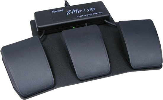 Kinesis Savant Elite Triple Action Foot Switch Zwart