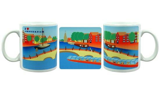 Cadeau Amsterdam Mok Onderzetter Souvenir