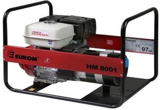 Eurom hm8001 benzine generator honda gx390 motor for Generator with honda motor