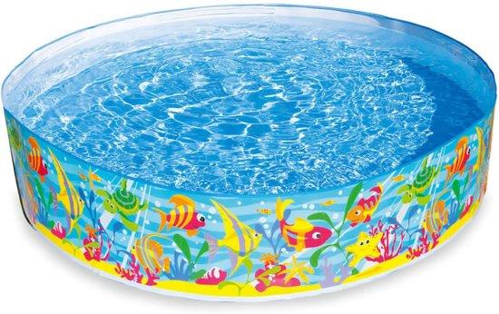 Opzetzwembad met oceaanprint