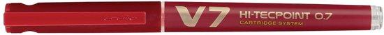 19x Pilot Roller Hi-Tecpoint V7 0,5mm rood