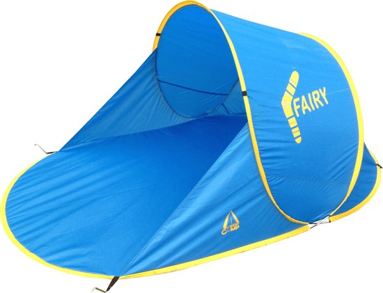 Best Camp Fairy - Pop Up Beach Shelter - Blauw/Geel