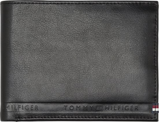 8d0052bc2d1 Tommy Hilfiger - Selvedge Emboss - extra CC and coin heren portemonnee -  Black