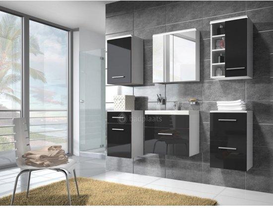 Badkamermeubel Zwart Wit : Badkamermeubel montreal xl cm complete set wit badplaats