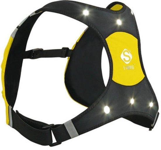 x vest lite hardloopverlichting veiligheidsvest geel medium