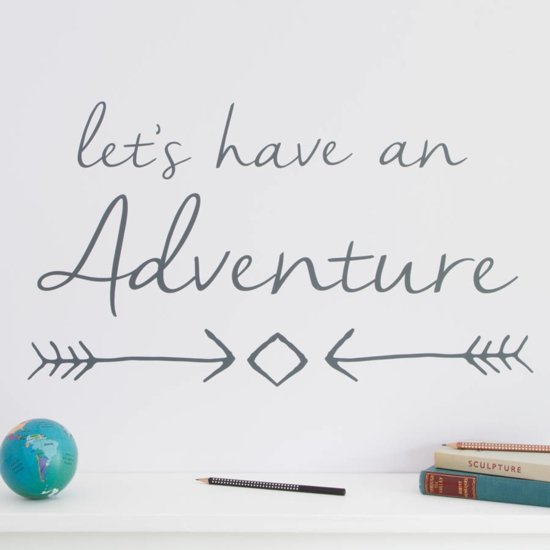 bol.com | Muursticker tekst Let\'s have an adventure | babykamer ...