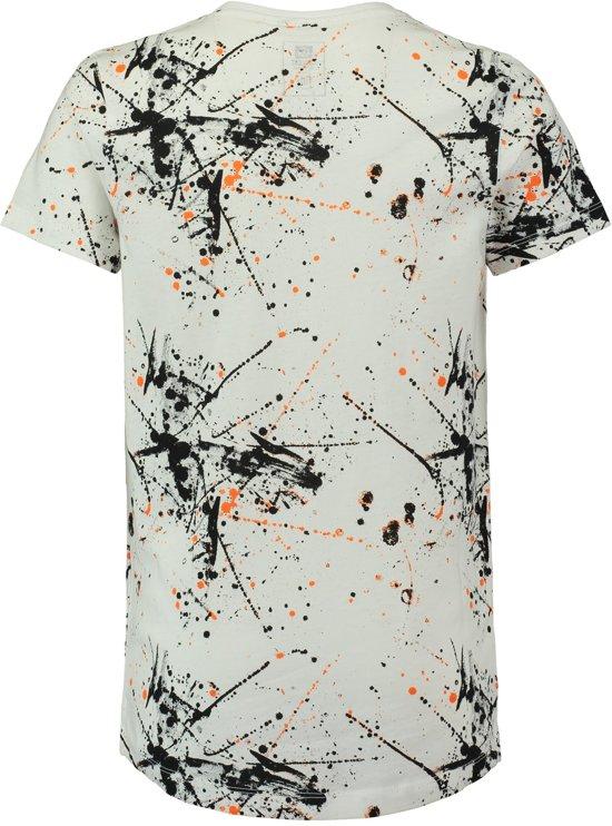 c4354096c4a bol.com | Coolcat Shirt Long length T-shirt met all over print - Wit ...