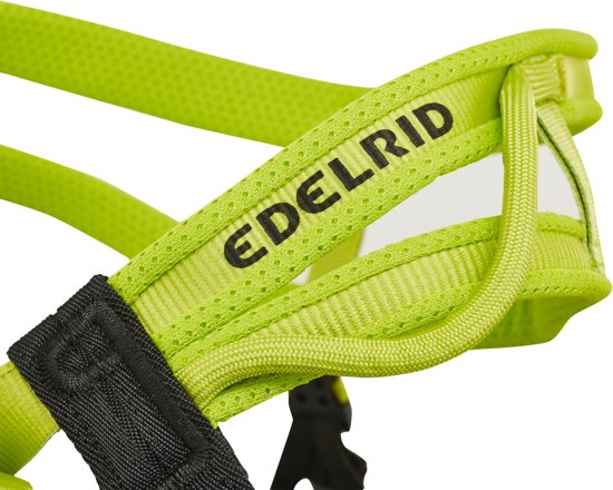Edelrid Huascaran klimgordel S grijs/groen Maat L