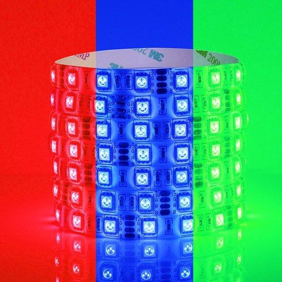 Groenovatie RGB LED Strip - 5 Meter - 14.4 Watt/meter - 5050 LED's - 12V - Waterdicht IP65