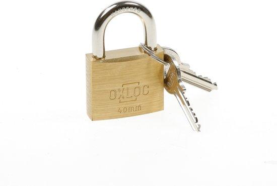 Oxloc Hangslot cilinder messing 40mm gls 4001