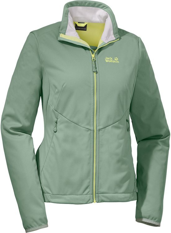 Jack Wolfskin Chill Out Jacket Women - dames - softshell - maat L - groen