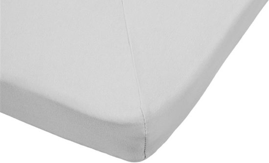 hoeslaken Beddinghouse Jersey splittopper - Katoen - 180 x 220 - Lichtgrijs