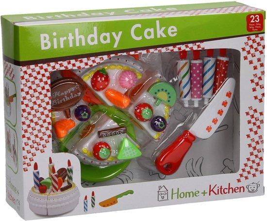 Home and Kitchen verjaardagstaart in vensterdoos