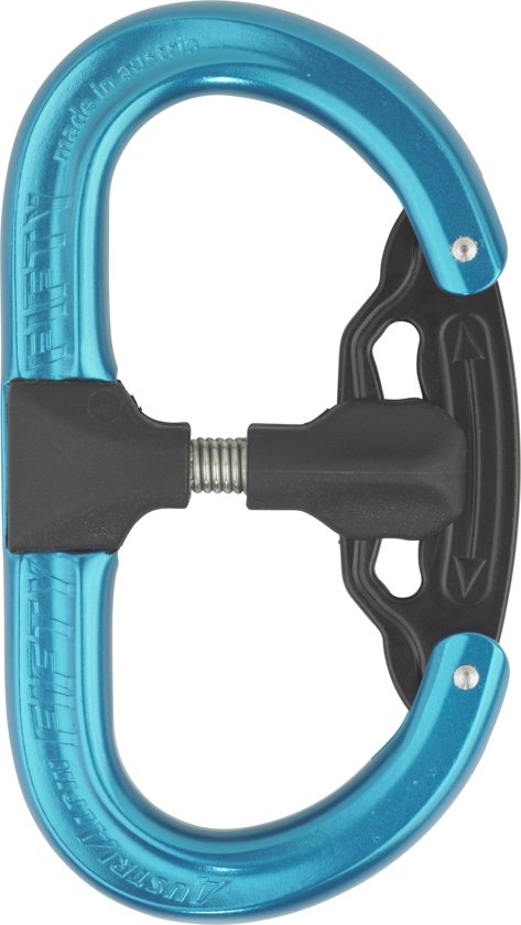 AustriAlpin Fifty:Fifty karabiner anodized blauw
