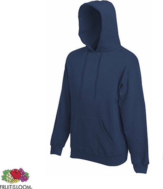 Fruit of the Loom Hoodie Navy Maat XL dubbellaagse capuchon