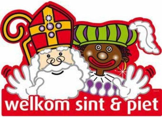 Sint en Piet Deurbord 48cm