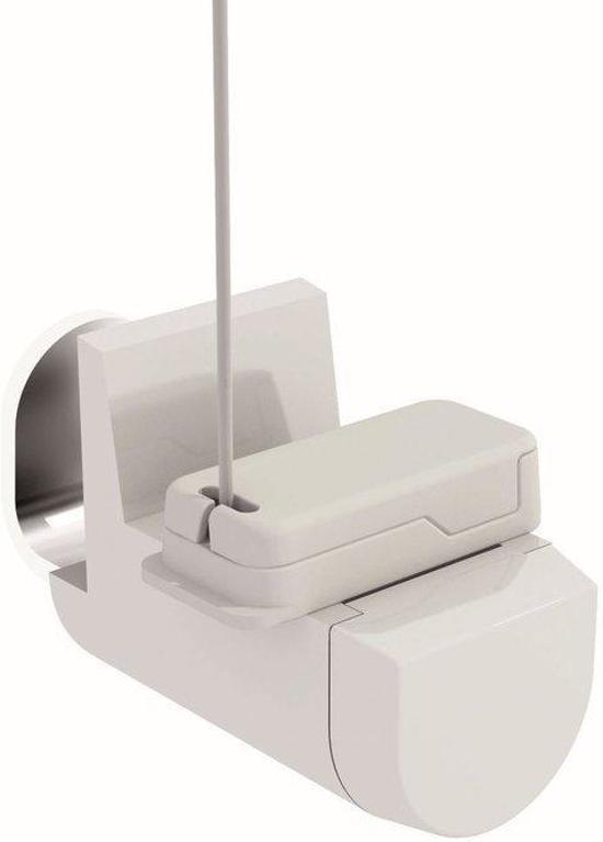 bol | 2 klemsteunen met kabel zijgeleiding voor cassette rolgordijn