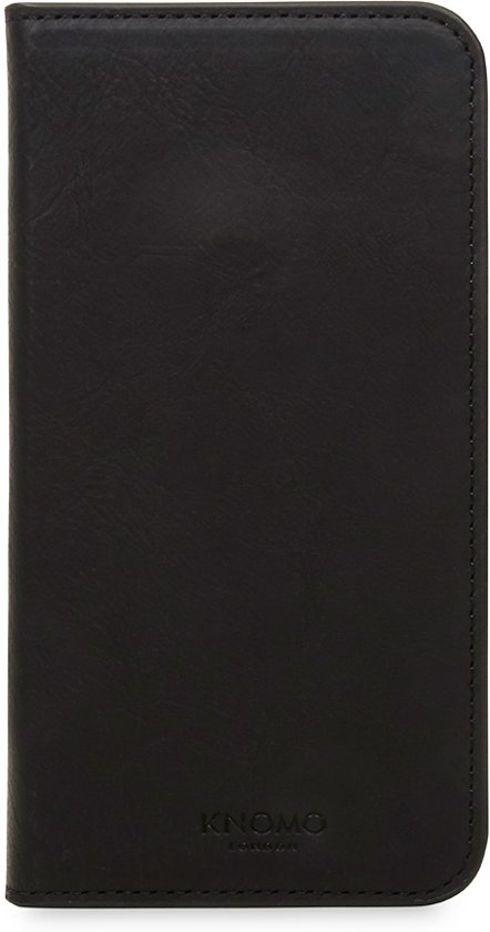 Knomo iPhone X Premium Folio Leather moulded shell Black