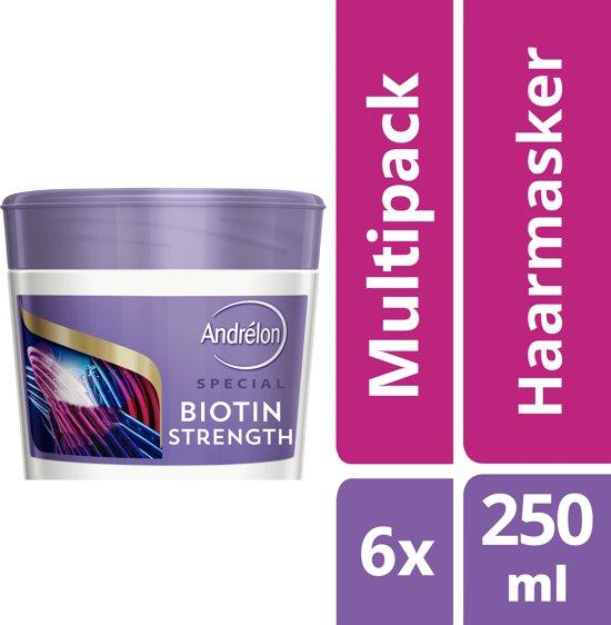 Andrélon Biotin Strength Haarmasker - 6 x 250 ml - Voordeelverpakking