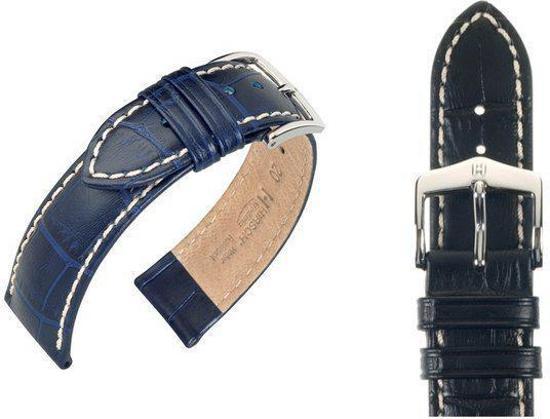 Hirsh Horlogeband -  Modena Zwart - Leer - 24 mm