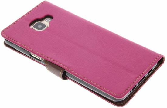 Fuchsia Feuille Conception Booktype Tpu Case Pour Motorola Moto G5 GfLMG6Ln