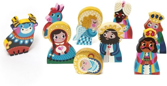 Nativity Set - Set houten kerstfiguren